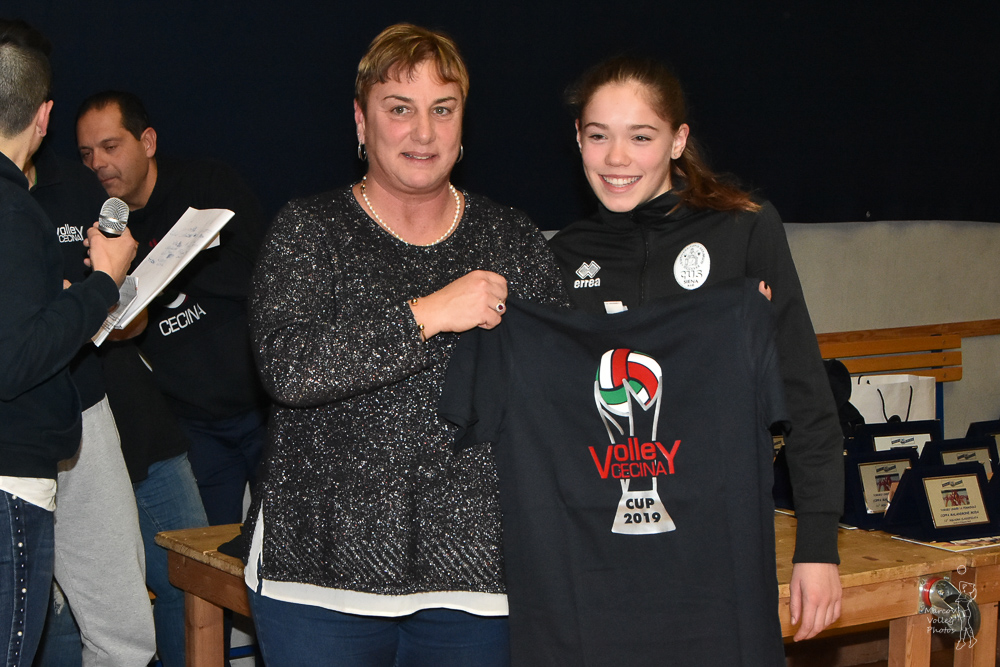 Victoria Sassolini, miglior difensore CUS Siena